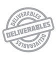 Deliverables rubber stamp vector image