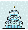 Light blue birthday cake vector image