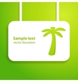 Tropical applique background vector image vector image