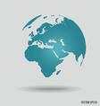 Modern world globe vector image vector image