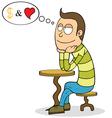 Cartoon man thinking vector image