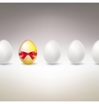 Golden Egg Difference uniqueness concept image vector image