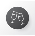clink glasses icon symbol premium quality vector image