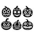 halloween pumpkin desgin - sugar skull vector image