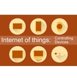 IoT - Controlling Devices Icons vector image