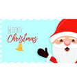 merry christmas holiday santa claus cartoon card vector image