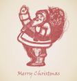 Red Santa Claus Sketch vector image