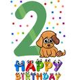 second birthday cartoon design vector image