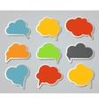 Set of Cloud Shaped Speech Bubbles vector image