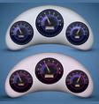 speedometer interface icon set vector image