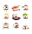 Maki Sushi Character Japan Themed Activities vector image