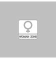 women gender computer symbol vector image