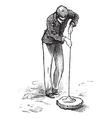 Vintage Vacuum Clean Sketch vector image vector image