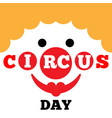 card to curcus day vector image
