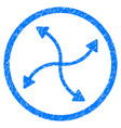swirl arrows rounded grainy icon vector image