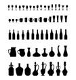 bowls bottles glasses vector image