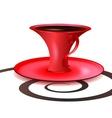 crimson cup vector image