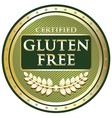 Gluten Free Green Label vector image vector image
