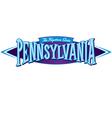 Pennsylvania The Keystone State vector image