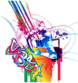 colorful urban background vector image vector image