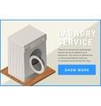 washing machine isometric flat vector image