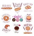 Bread House Logo Set vector image