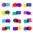 bubble speech icon set vector image