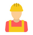 builder flat icon build and repair construction vector image