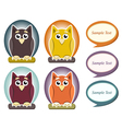 Cartoon owl with speech bubble vector image