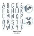 creative alphabet set vector image