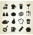 Meal icons9 vector image