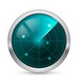 radar icon white background for design vector image
