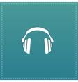 retro headphone flat icon vector image