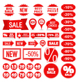 Sale Banners Labels and Stickers vector image