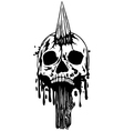 Skull with stake vector image