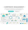 elegant thin line flat modern Corporate vector image