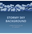 Stormy sky and clouds background woth room for vector image