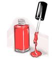nail polish drawing vector image