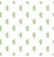 Bamboo pattern cartoon style vector image