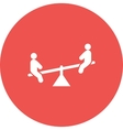 Sitting on Seesaw vector image