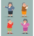 Vintage Art Adult Old Female Granny Character Icon vector image vector image