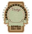 retro label vector image
