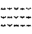 bat icons vector image vector image
