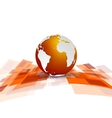Shiny motion tech background with globe vector image vector image