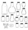 Mason jar design vector image