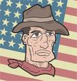 American western flag vector image