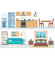 Apartment inside vector image