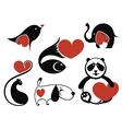 Animals love vector image