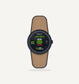 Digital watch call vector image