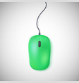 Green computer mouse on white vector image